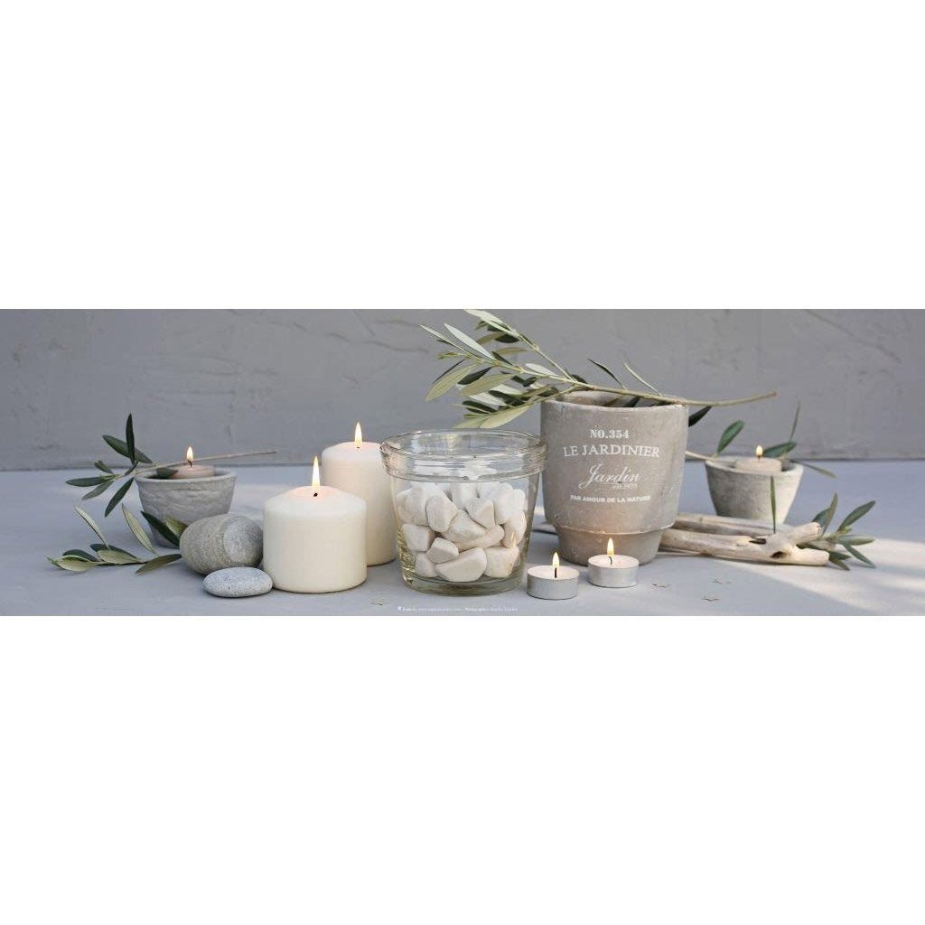 toile lumineuse led bougies et pot 90 x 30 cm leroy. Black Bedroom Furniture Sets. Home Design Ideas