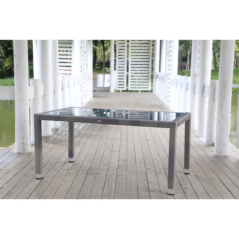 Table de jardin rectangulaire jerez eden garden setm leroy merlin - Leroy merlin jardin sevilla la rochelle ...