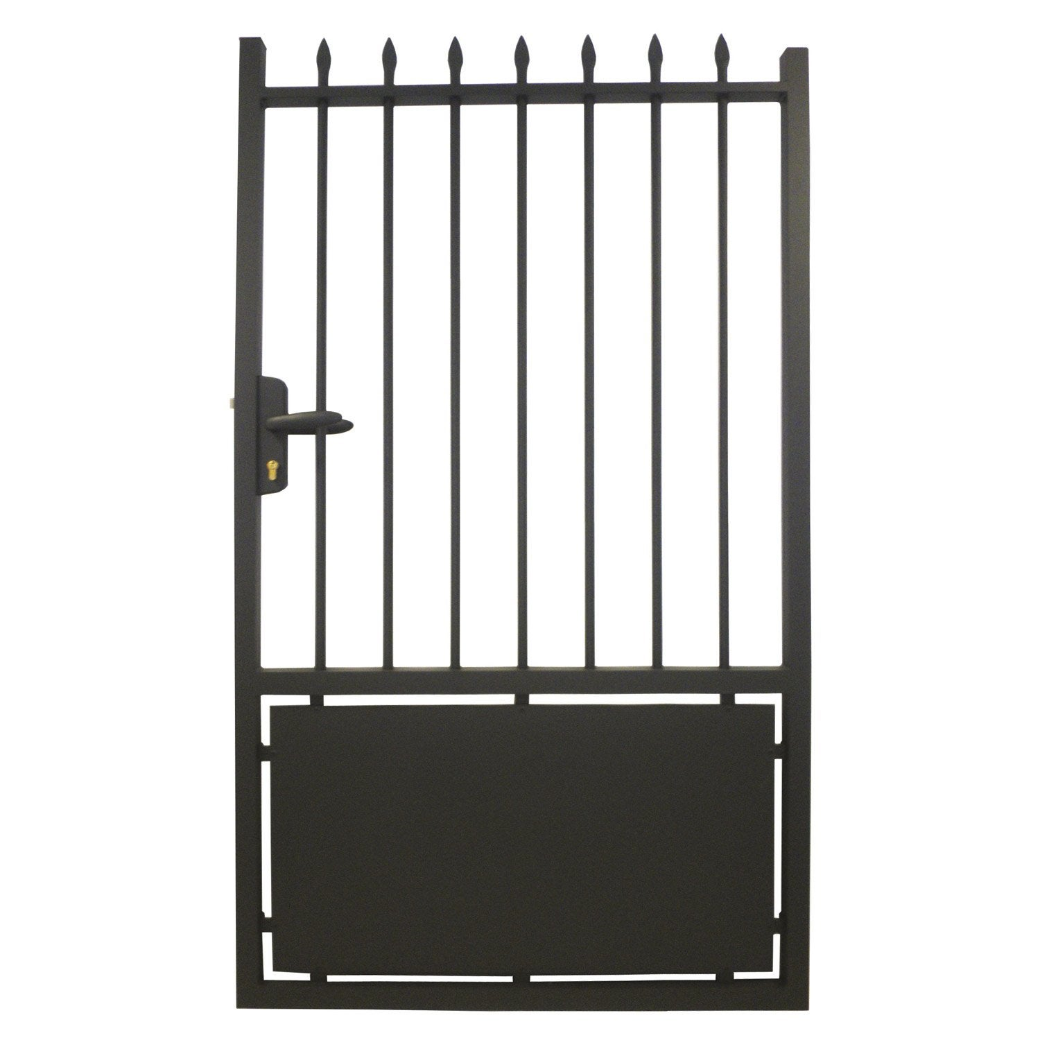 Portillon battant en aluminium lancieux x cm leroy merlin - Portillon double battant ...