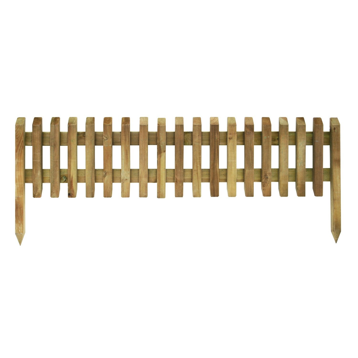 Bordure planter pikasso bois naturel x cm for Bordure en bois de jardin
