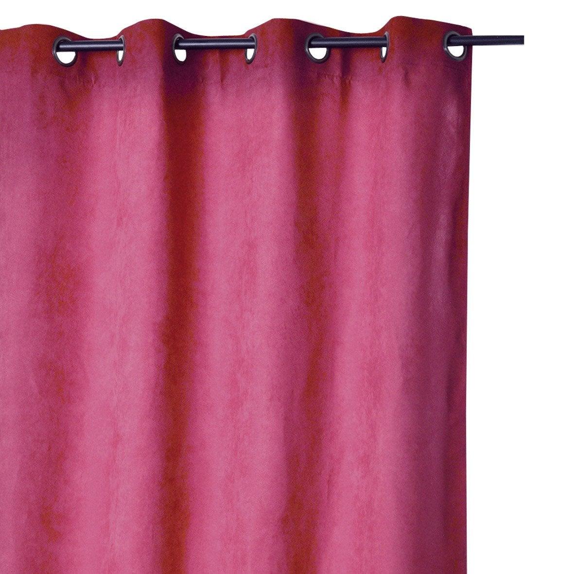 rideau suedine occultante piment x cm leroy merlin. Black Bedroom Furniture Sets. Home Design Ideas