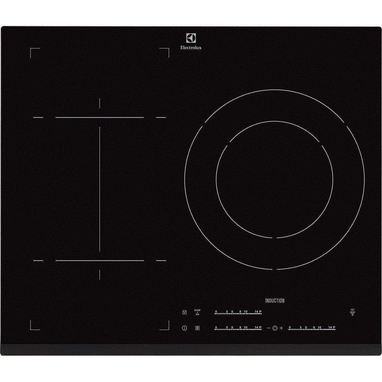 Plaque induction 3 foyers noir electrolux e6853fok leroy merlin - Plaque induction leroy merlin ...