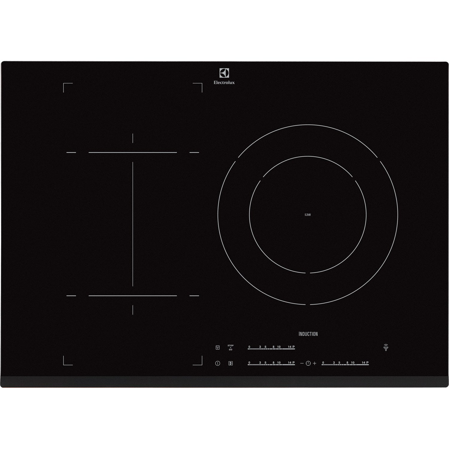 Plaque induction 3 foyers noir electrolux ehn7532lhk - Protege plaque induction leroy merlin ...