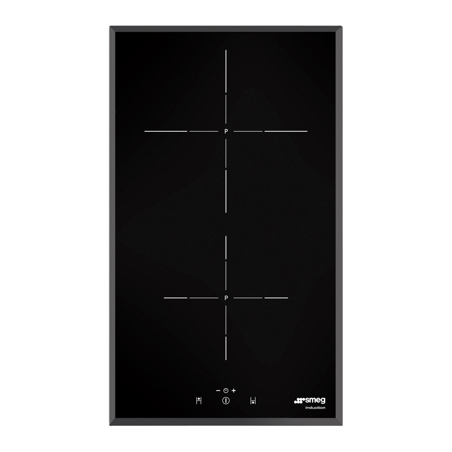 plaque induction 2 foyers noir smeg si5322b leroy merlin. Black Bedroom Furniture Sets. Home Design Ideas