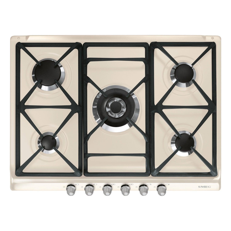 plaque de cuisson gaz 5 smeg sr775ps leroy merlin. Black Bedroom Furniture Sets. Home Design Ideas