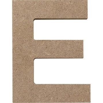 lettre bois majuscule e 12 x 12 cm leroy merlin. Black Bedroom Furniture Sets. Home Design Ideas