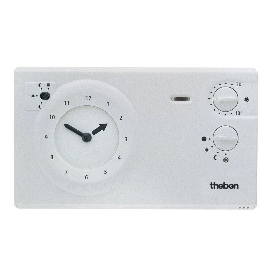 thermostat programmable filaire theben 784 r leroy merlin. Black Bedroom Furniture Sets. Home Design Ideas
