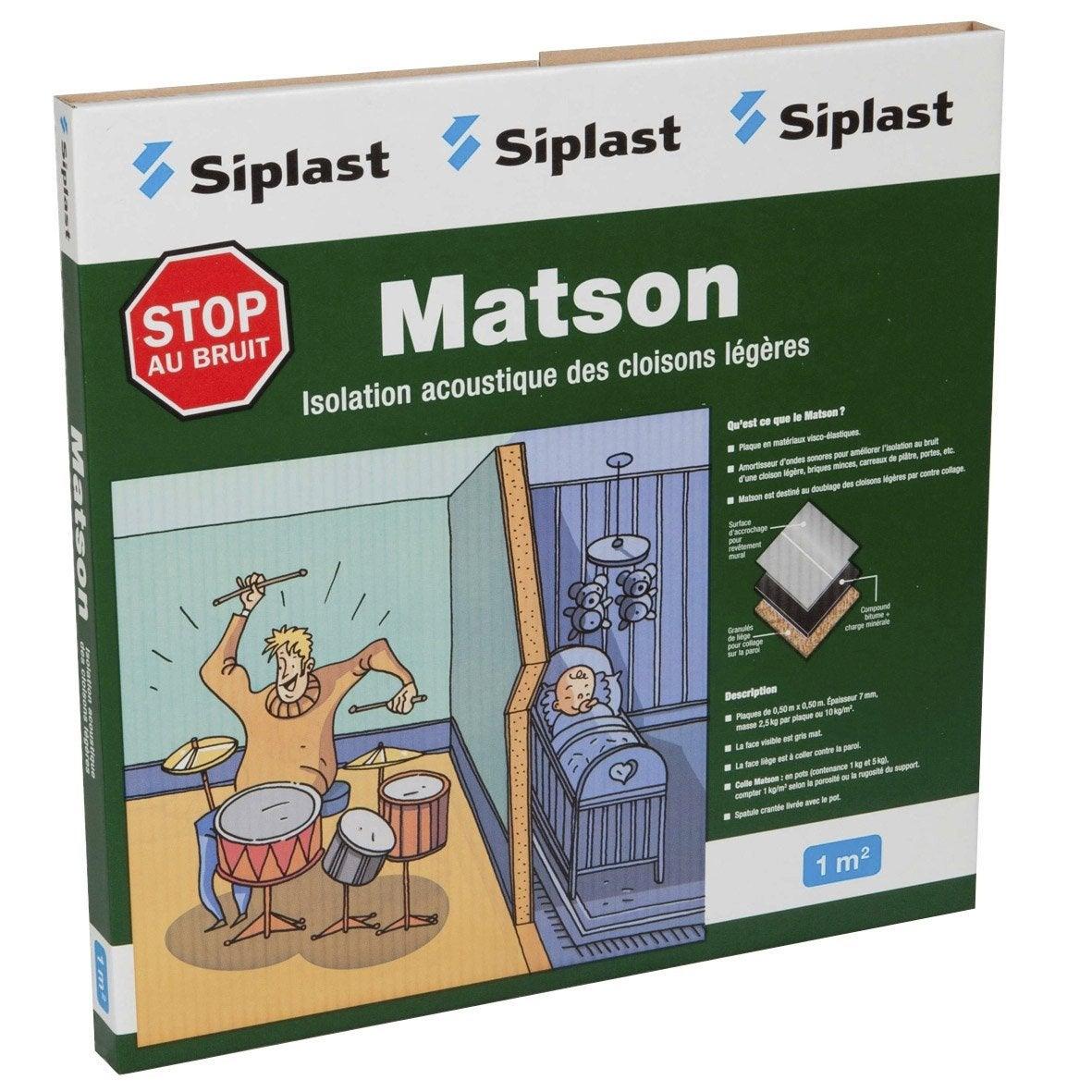 Dalle en mat riaux visco lastiques matson monarflex - Materiaux pour isolation phonique des plafonds ...