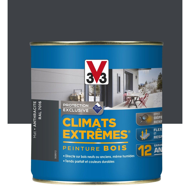 peinture bois ext rieur climats extr mes v33 gris anthracite 0 5 l leroy merlin. Black Bedroom Furniture Sets. Home Design Ideas
