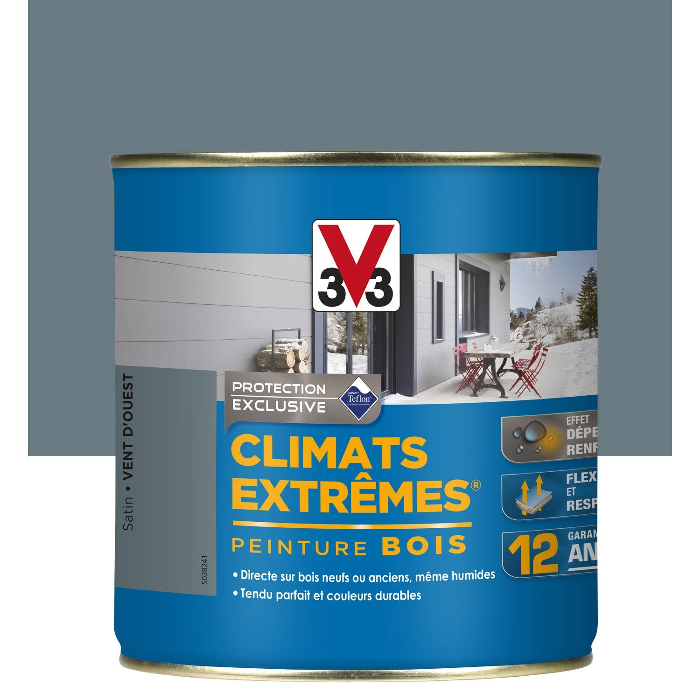 Peinture bois ext rieur climats extr mes v33 bleu vent d for Peinture pour volets bois exterieur