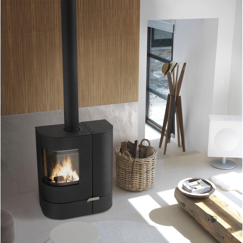 po le bois invicta mix anthracite 6196 44 6kw leroy. Black Bedroom Furniture Sets. Home Design Ideas