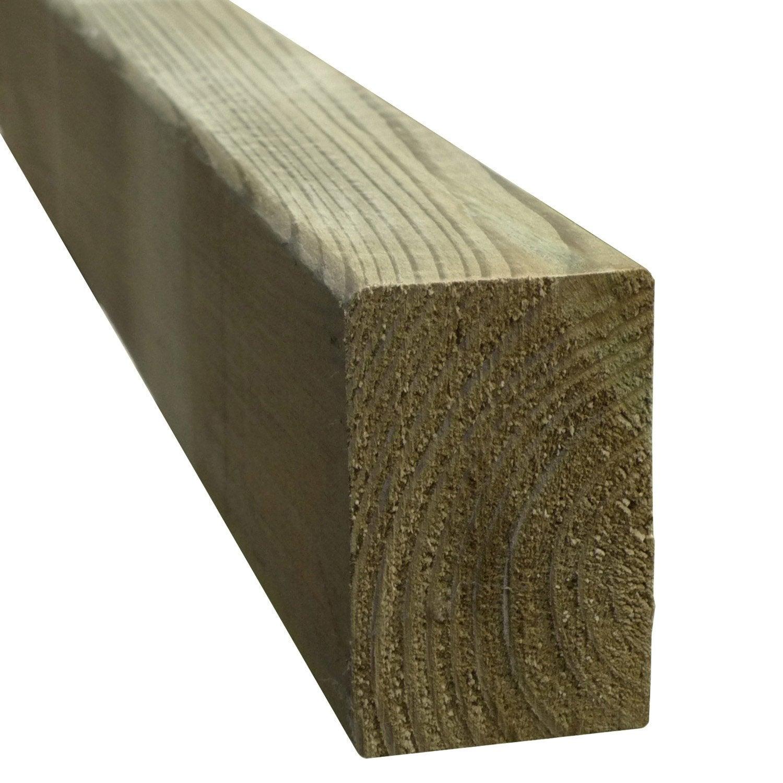 lambourde pour terrasse bois r sineux vert l 3 m x l 7 cm x mm leroy merlin. Black Bedroom Furniture Sets. Home Design Ideas
