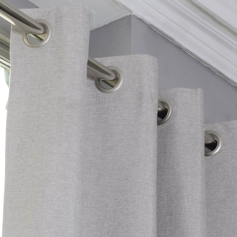 rideau occultant faux uni lin x cm leroy merlin. Black Bedroom Furniture Sets. Home Design Ideas