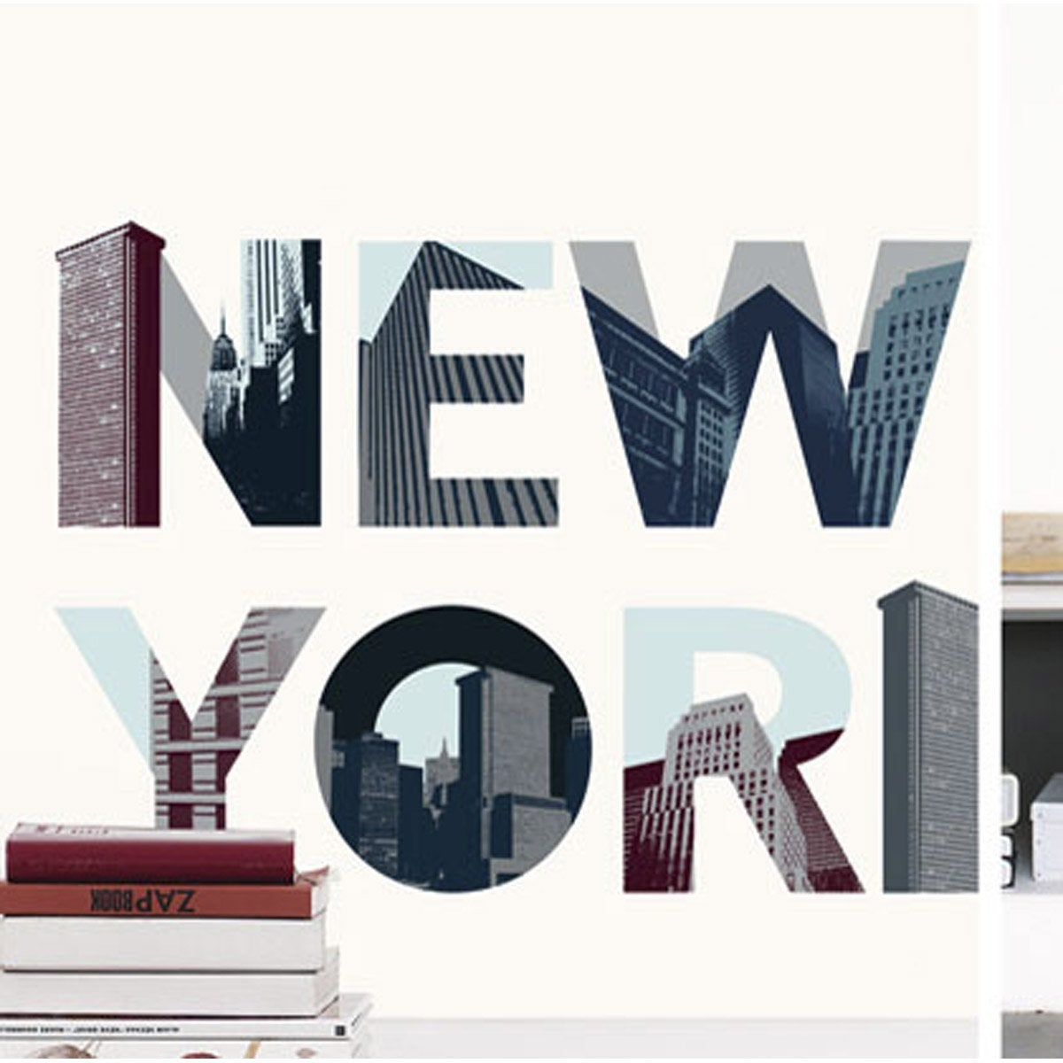sticker new york 49 cm x 69 cm leroy merlin. Black Bedroom Furniture Sets. Home Design Ideas