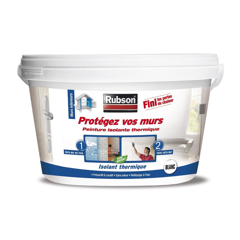 Peinture thermique prot gez vos murs rubson blanc 2 5 l leroy merlin - Peinture isolante leroy merlin ...