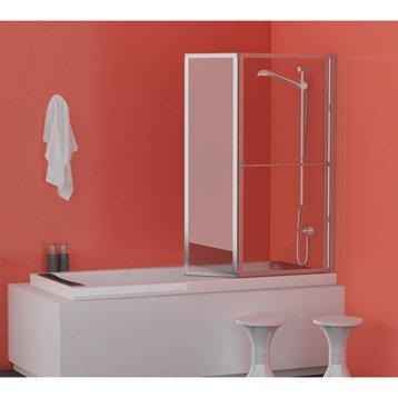 pare baignoire 2 volets lm 104 verre s curit 3 mm transparent leroy merlin. Black Bedroom Furniture Sets. Home Design Ideas