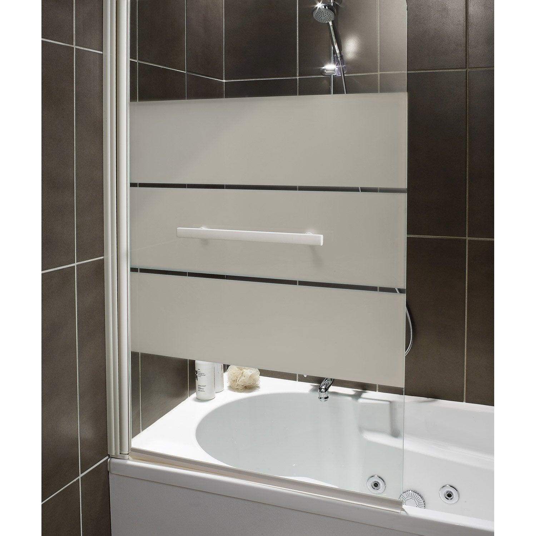 pare baignoire 1 volet optima 2 verre s curit 5 mm s rigraphi leroy merlin. Black Bedroom Furniture Sets. Home Design Ideas