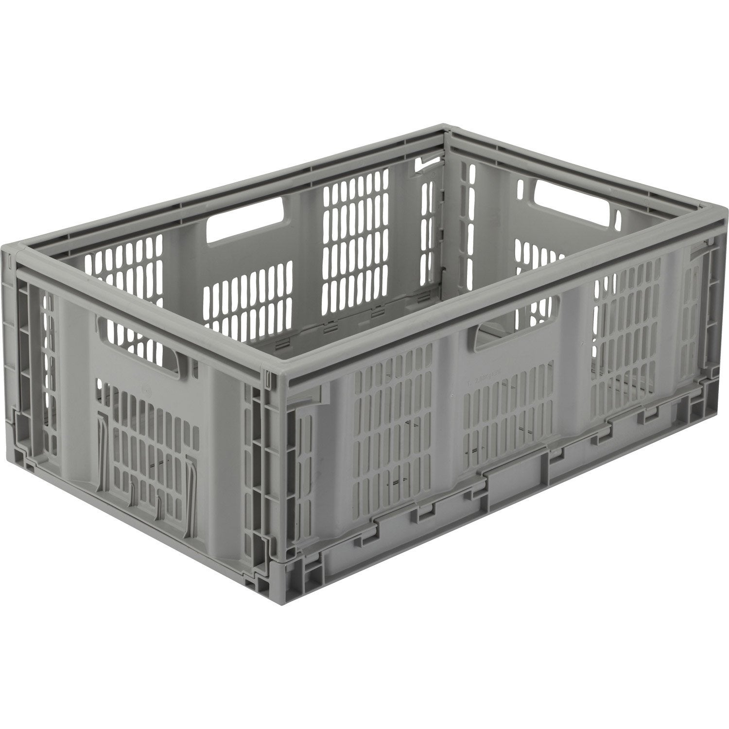 Casier pliable teknika en plastique l 60 x p 40 x h 22 - Casier rangement leroy merlin ...