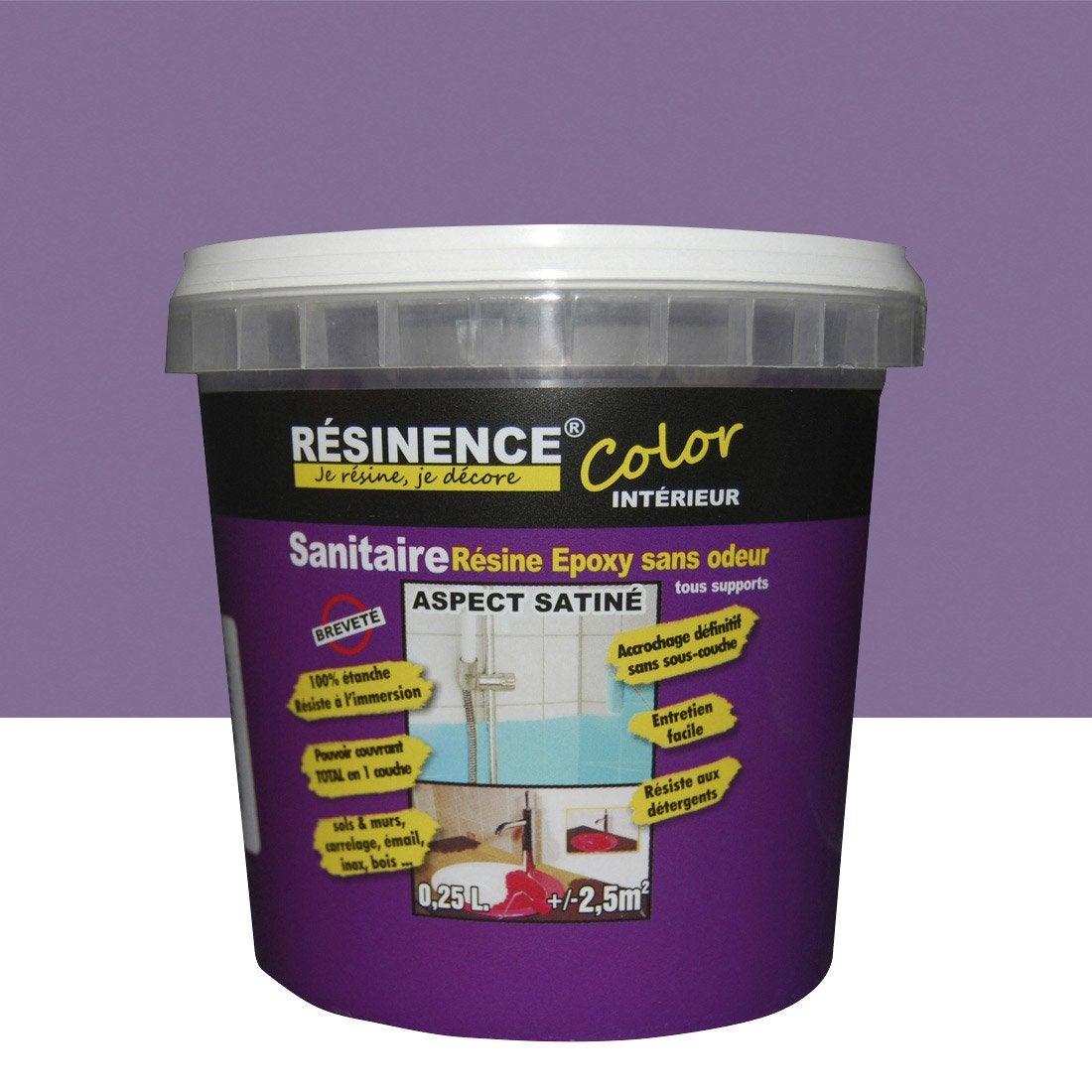 r sine color e toutes surfaces resinence color violette l leroy merlin. Black Bedroom Furniture Sets. Home Design Ideas