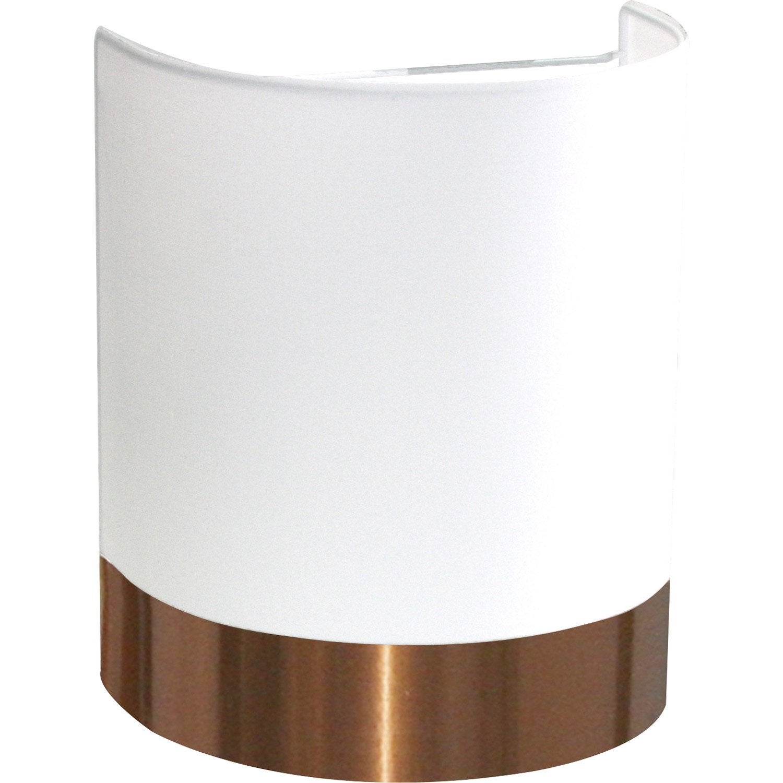 Applique copper 1 x 60 w coton blanc metropolight leroy merlin - Applique chambre bebe leroy merlin ...