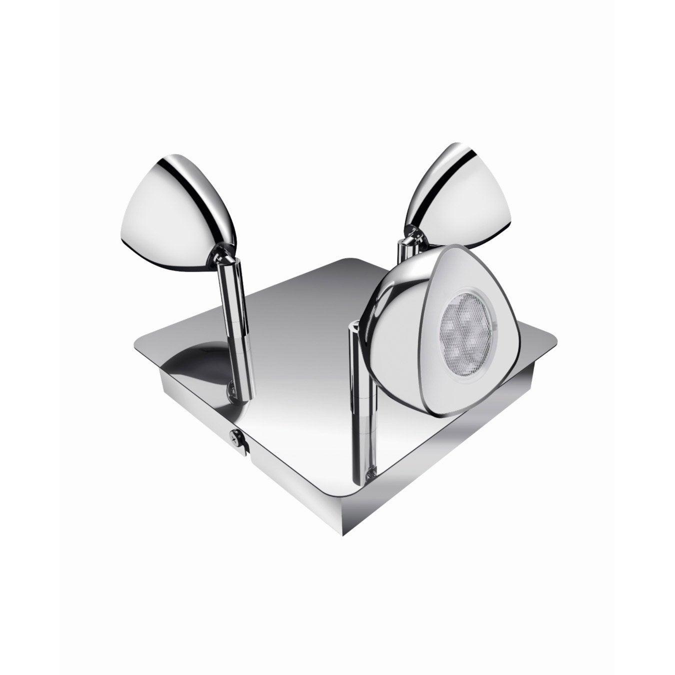 Plafonnier 3 spots led int gr e 3x14w chrom calyx for Plafonnier salle de bain leroy merlin