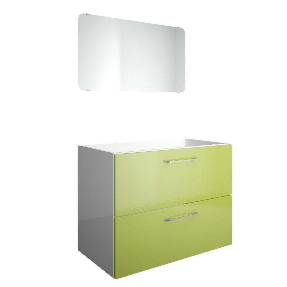 Meuble sous vasque et miroir x x cm for Meuble 60 x 80