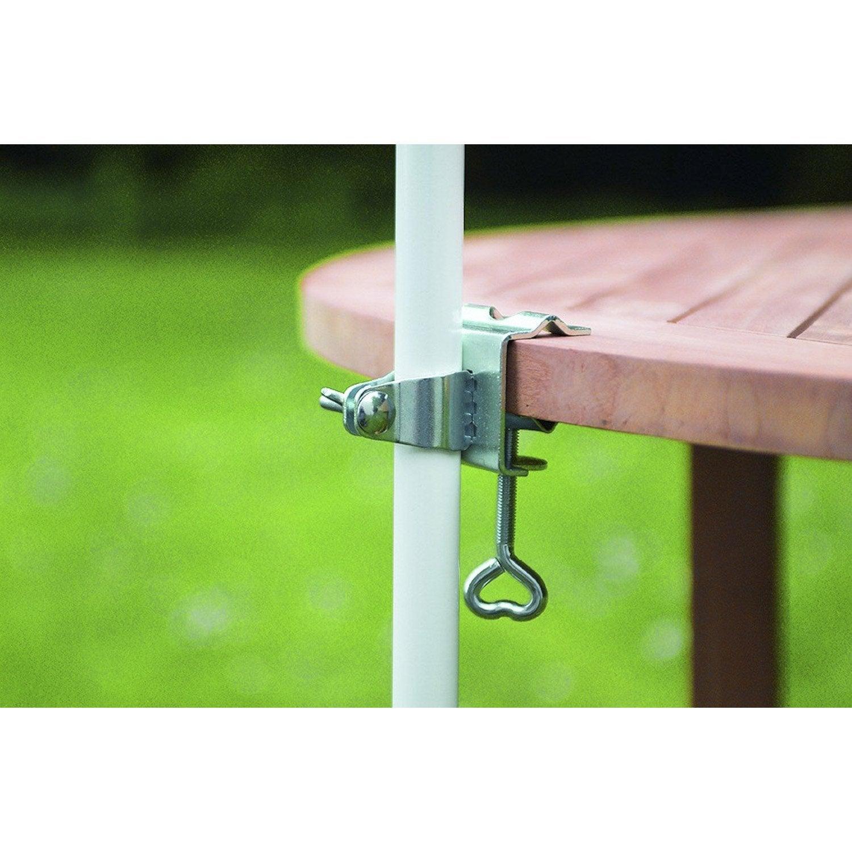 Pied de parasol pince table argent leroy merlin - Pied telescopique leroy merlin ...