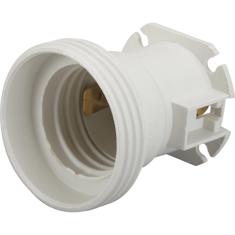Lot de 5 douilles lectriques vis e27 150 w blanc for Lumiere exterieur sur fil