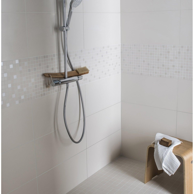Fa ence mur ivoire purity x cm leroy merlin - Frise salle de bain leroy merlin ...
