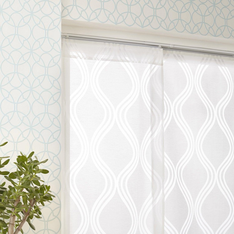 panneau japonais d vor goutte blanc x cm. Black Bedroom Furniture Sets. Home Design Ideas