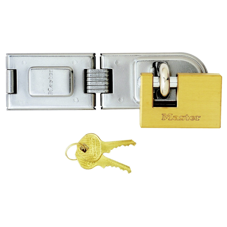 Porte cadenas cadenas masterlock acier c ment 160 mm leroy merlin - Cadenas pour porte de garage ...
