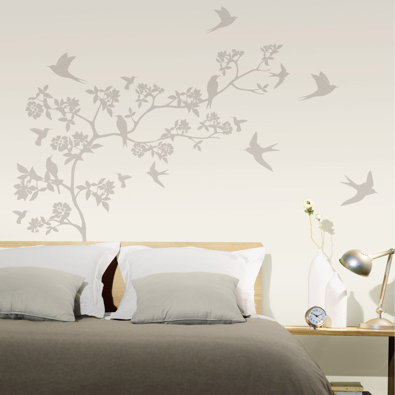 sticker paradise 47 cm x 67 cm leroy merlin. Black Bedroom Furniture Sets. Home Design Ideas