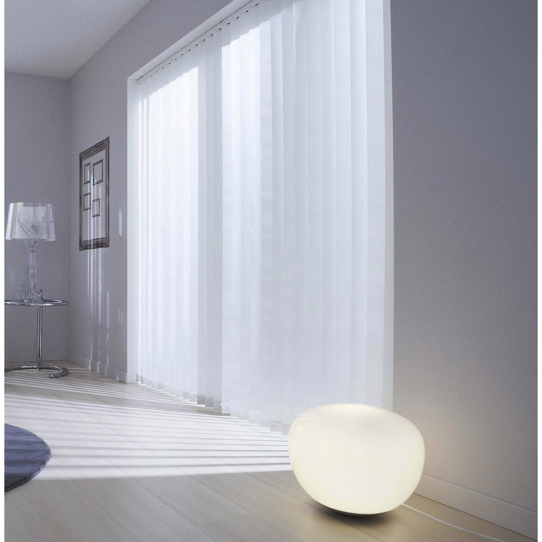 Kit complet rail lamelles verticales orientables inspire blanc - Store vertical exterieur leroy merlin ...