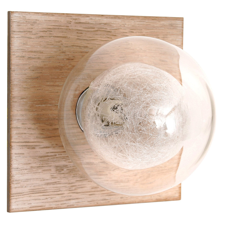 Applique Bois Leroy Merlin : Applique Venus, halog?ne 1 x 28 W, G9 bois clair Leroy Merlin