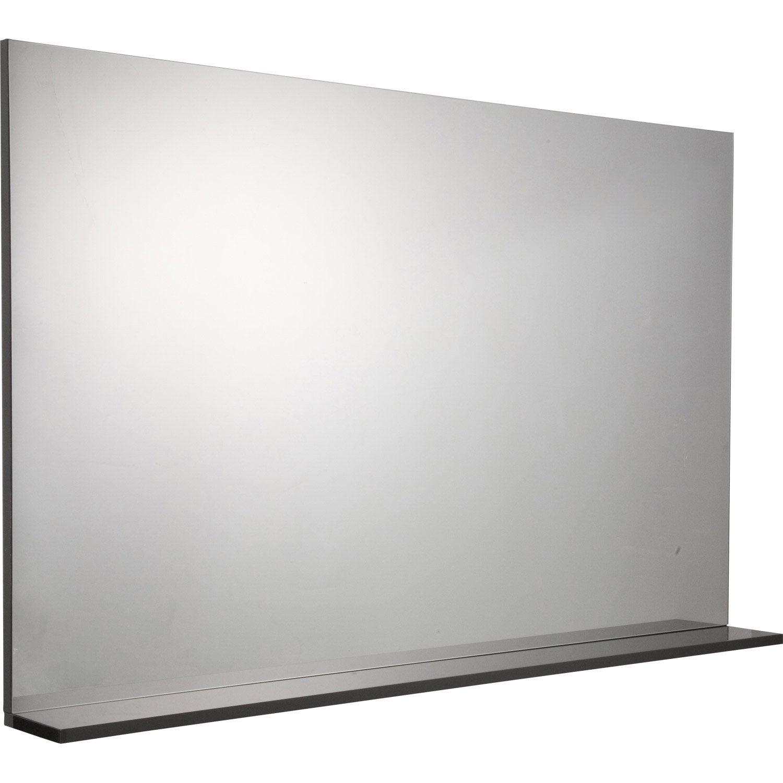 miroir avec tablette gris l 120 0 cm opale leroy merlin. Black Bedroom Furniture Sets. Home Design Ideas