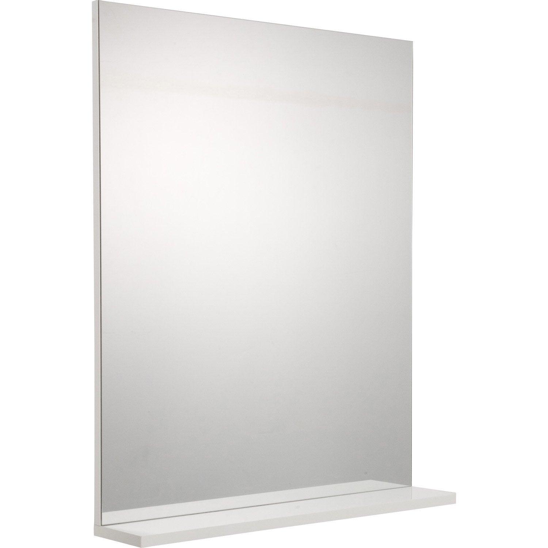miroir avec tablette cm opale leroy merlin. Black Bedroom Furniture Sets. Home Design Ideas