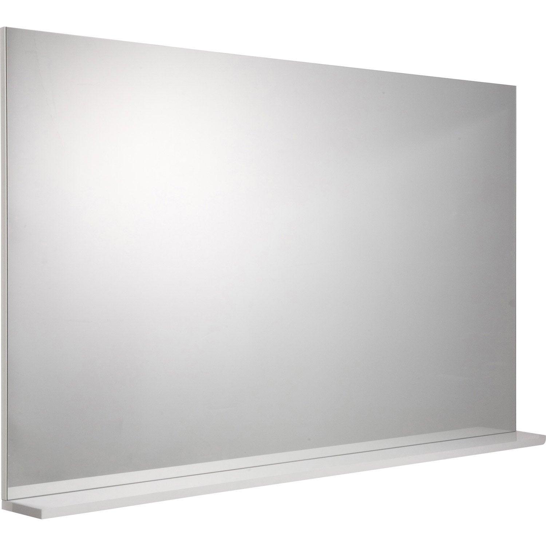 miroir avec tablette opale blanc cm. Black Bedroom Furniture Sets. Home Design Ideas