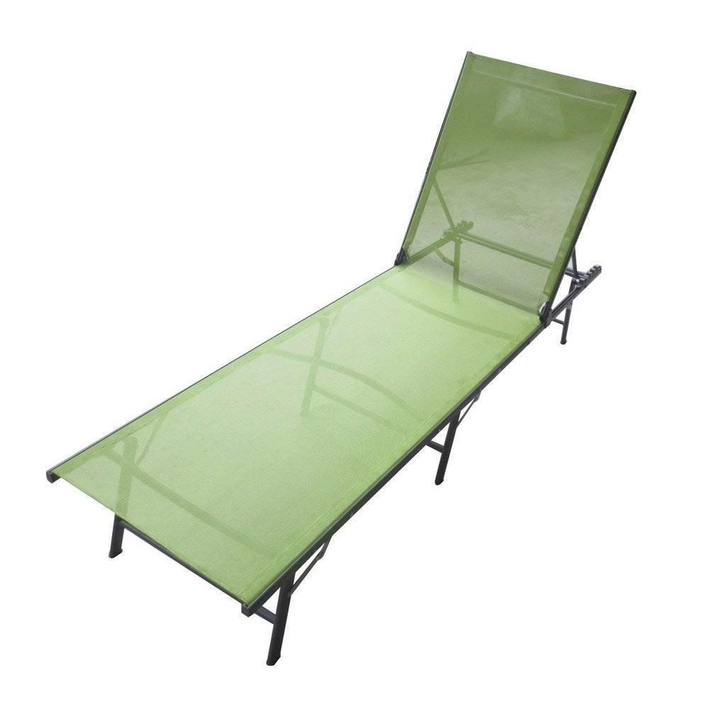Bain de soleil de jardin couleur anthracite et vert leroy merlin - Bain de soleil corail ...