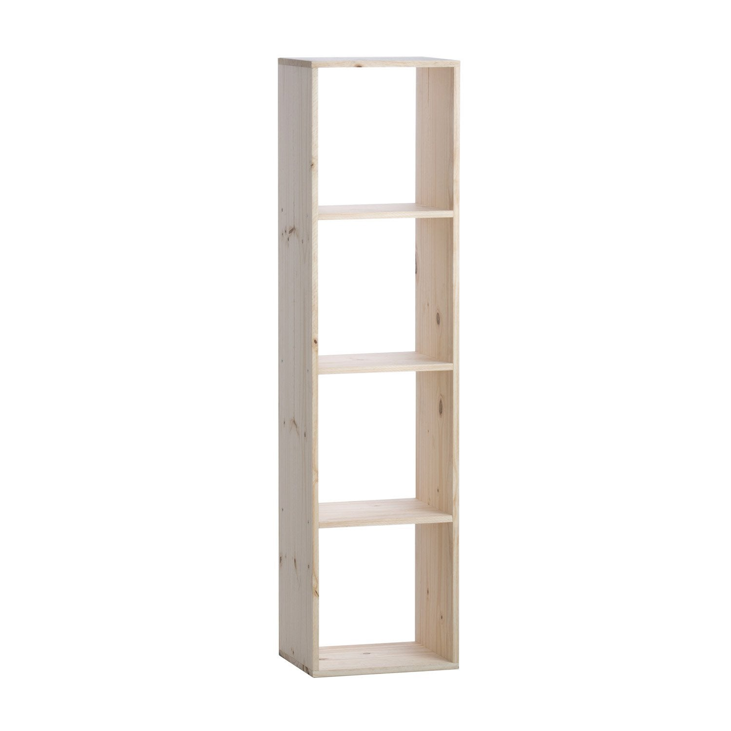 Etag re 4 cases multikaz pin x x cm - Etagere modulable leroy merlin ...