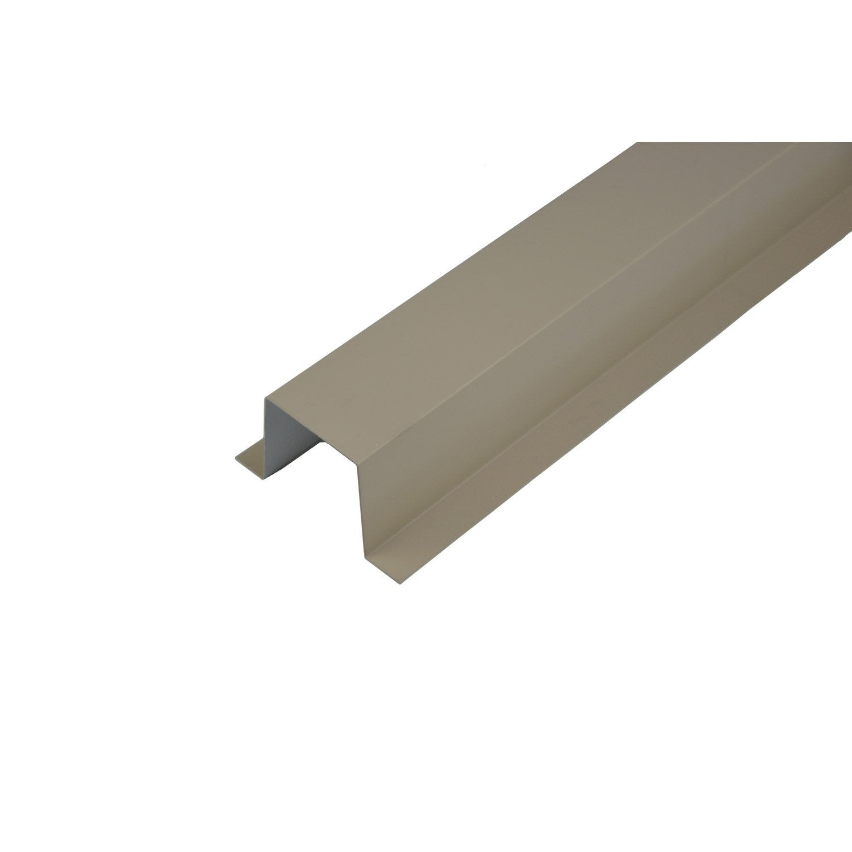goulotte produit de finition sable acier laqu leroy merlin. Black Bedroom Furniture Sets. Home Design Ideas