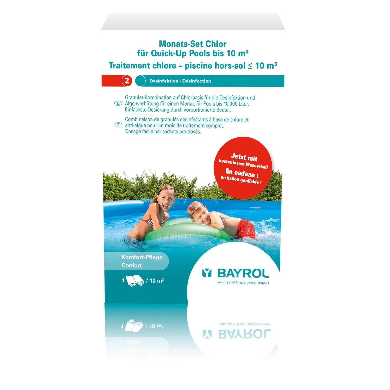 kit d 39 entretien piscine enfant inf 10 m bayrol traitement chlore granul leroy merlin. Black Bedroom Furniture Sets. Home Design Ideas