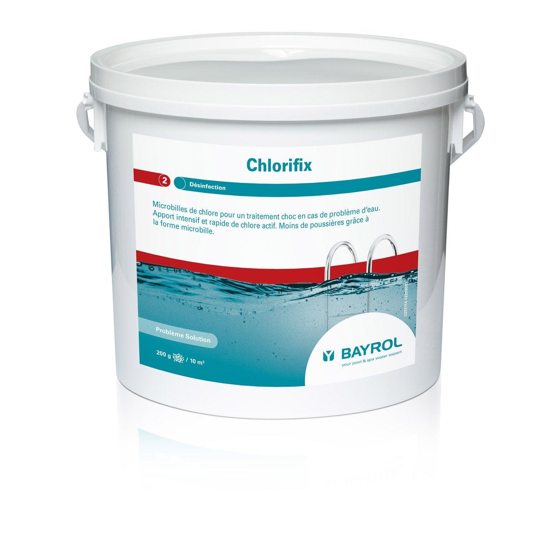 chlore choc piscine bayrol chlorifix granul 5 l 5 kg leroy merlin. Black Bedroom Furniture Sets. Home Design Ideas