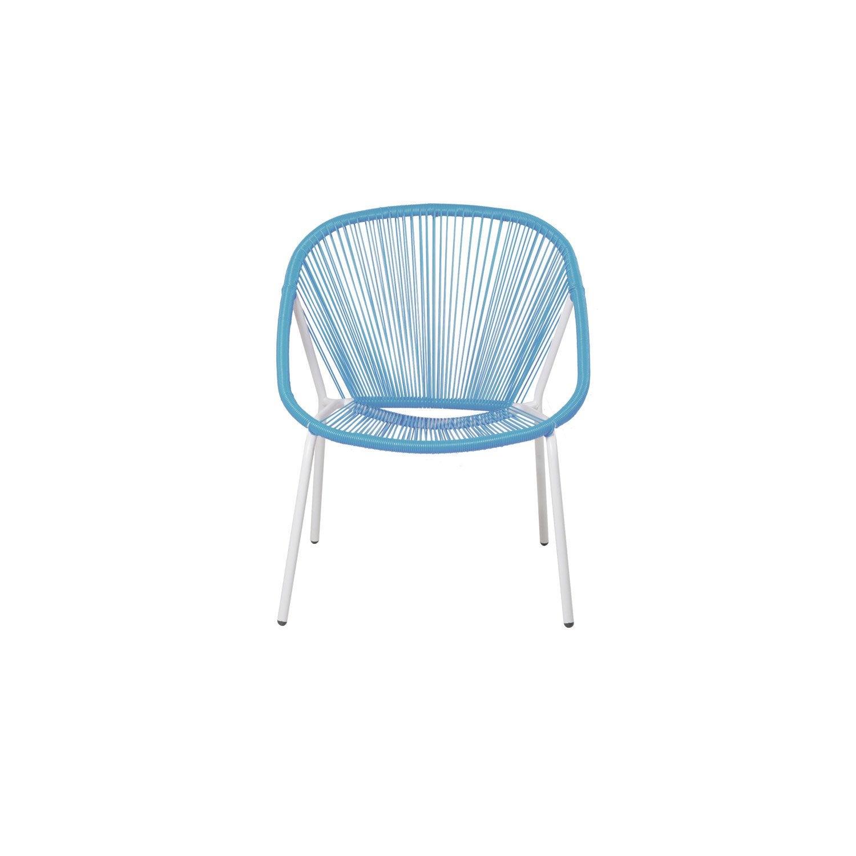 fauteuil de jardin en r sine samba bleu leroy merlin. Black Bedroom Furniture Sets. Home Design Ideas