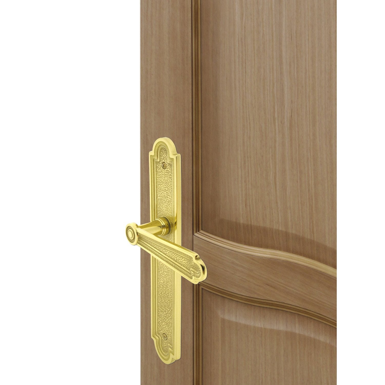 Poign e de porte r gence sans trou inspire laiton 195 mm leroy merlin - Poignee de porte bricorama ...