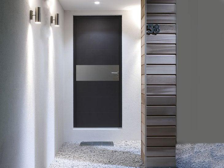 Porte d entree contemporaine de villa deco maison moderne for Porte maison moderne
