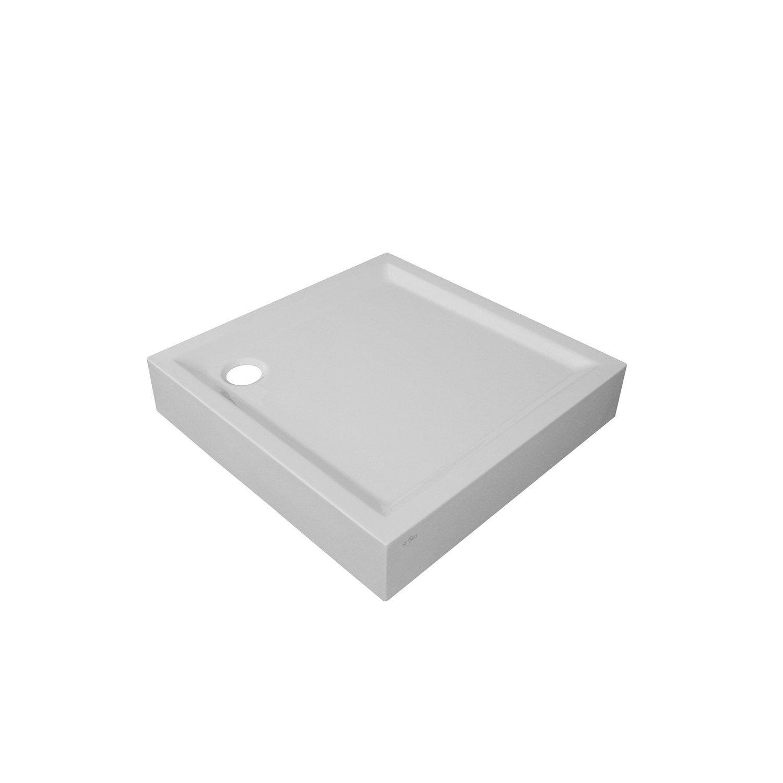receveur de douche sensea houston sur lev acrylique carr 90 x 90 cm leroy merlin. Black Bedroom Furniture Sets. Home Design Ideas