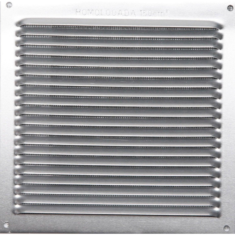 grille d 39 a ration visser aluminium anodis 17x17cm. Black Bedroom Furniture Sets. Home Design Ideas