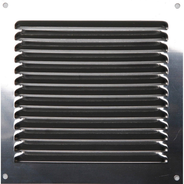 grille d 39 a ration acier inoxydable naturel x cm leroy merlin. Black Bedroom Furniture Sets. Home Design Ideas