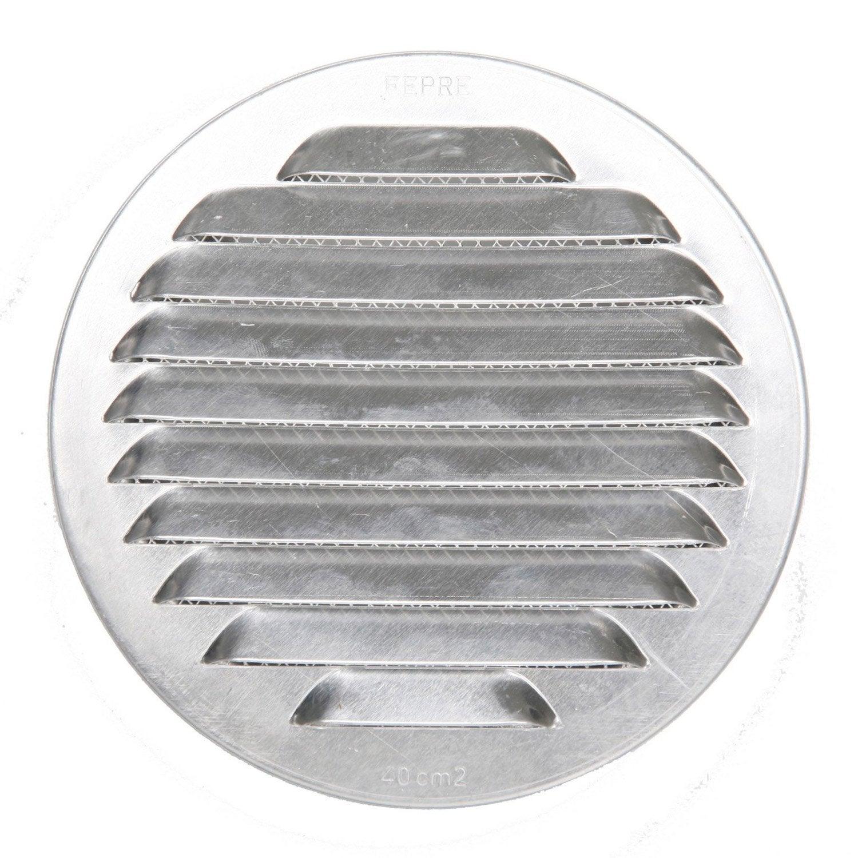 Grille d 39 a ration aluminium naturel cm leroy merlin for Grille ouvrante leroy merlin