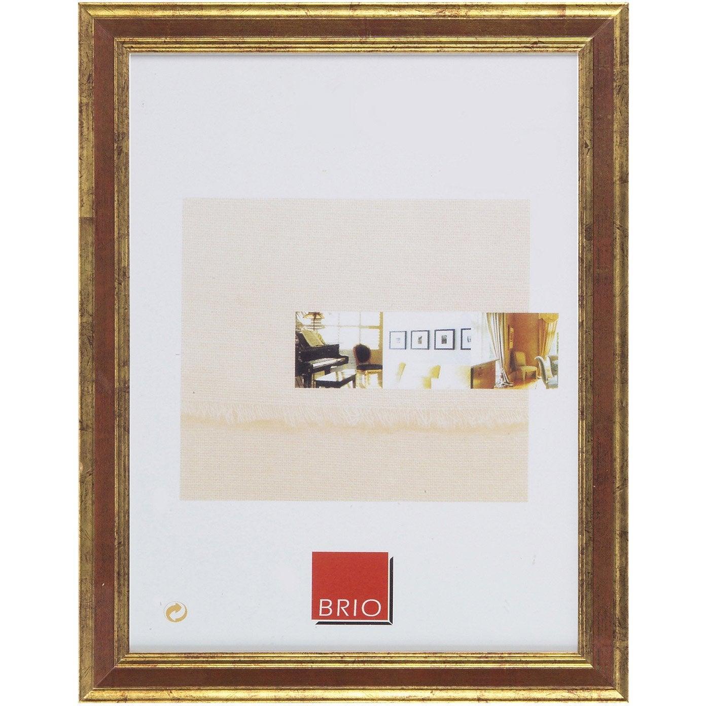 cadre bois ga a 30 x 40 cm ocre leroy merlin. Black Bedroom Furniture Sets. Home Design Ideas